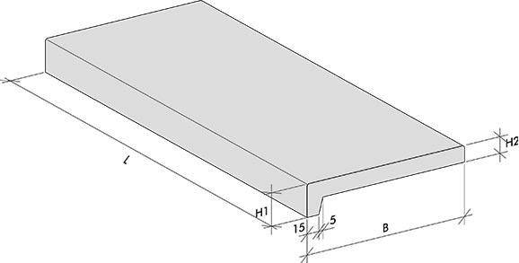 Fensterbänke L-Profil